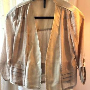 BCBG Gold Pleated Jacket